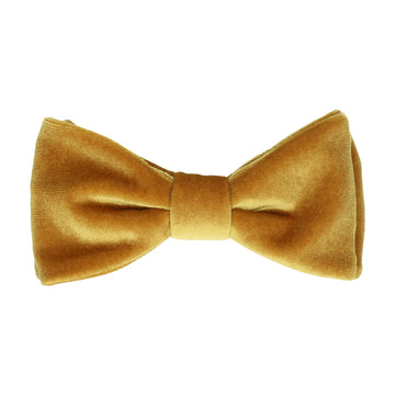gold bow tie, from our collection of velvet bow ties for men.