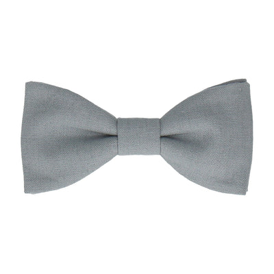Brushed Linen in Dusty Blue Bow Tie