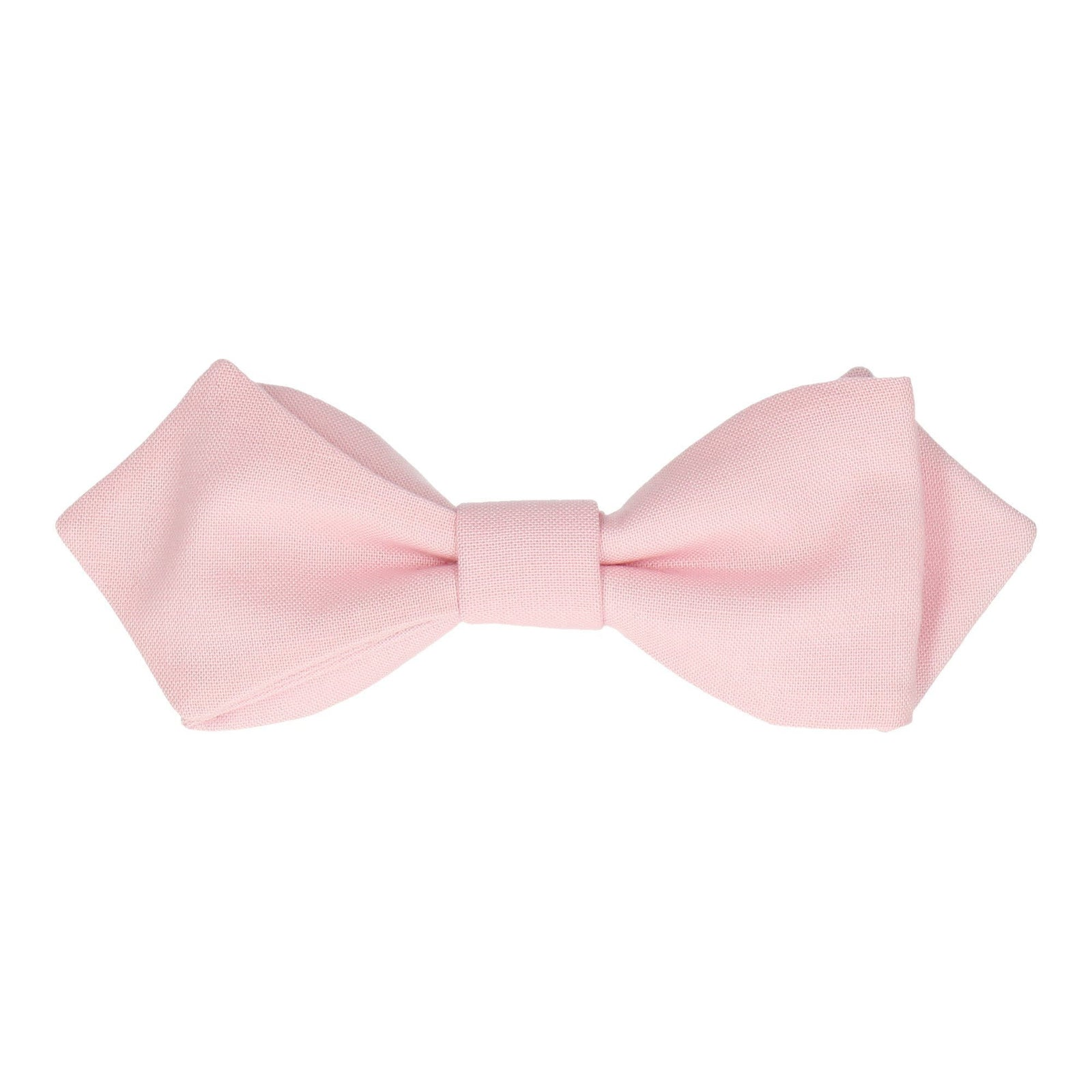 Cotton Rose Quartz Pink Bow Tie