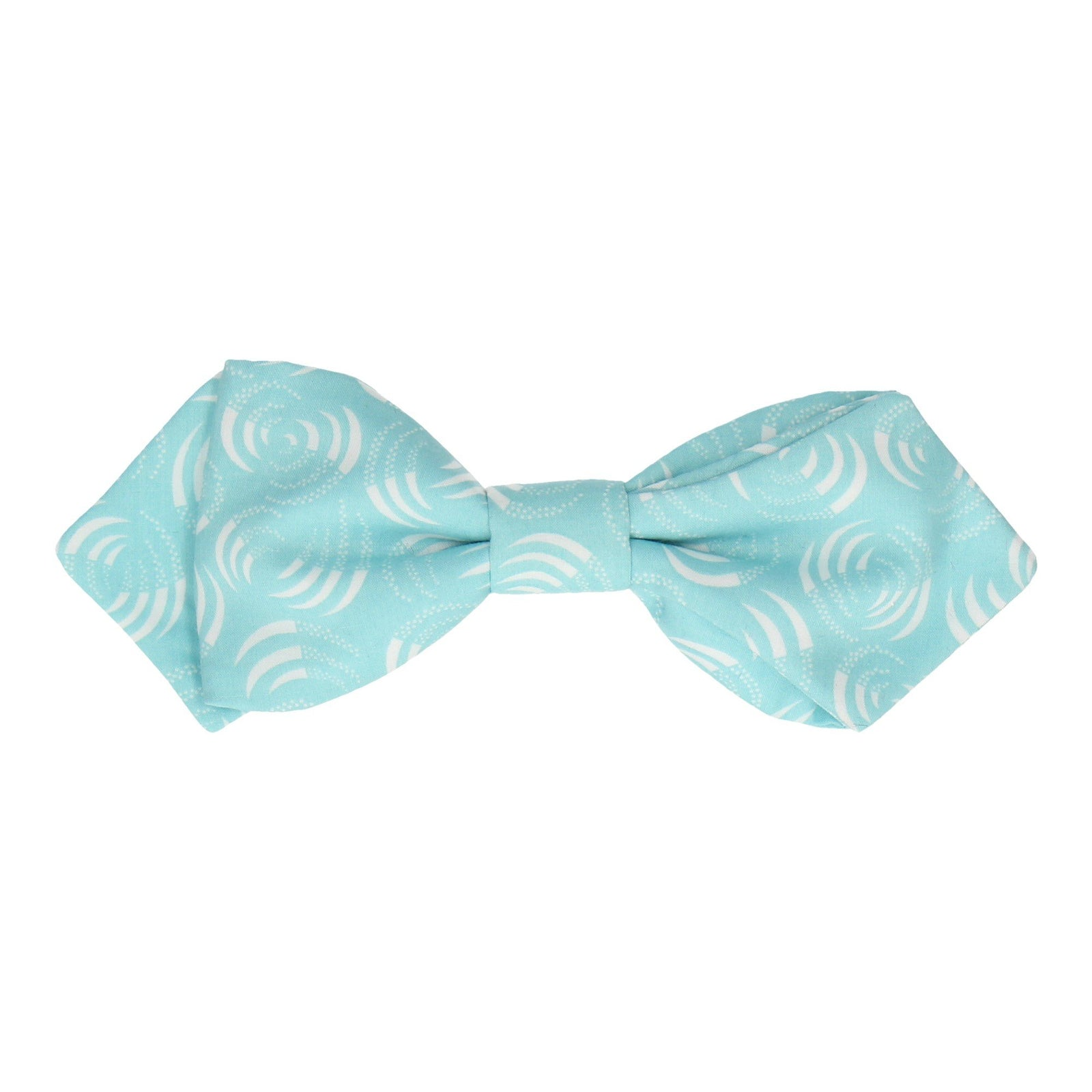 Light Blue Isa Swirls Liberty Cotton Bow Tie