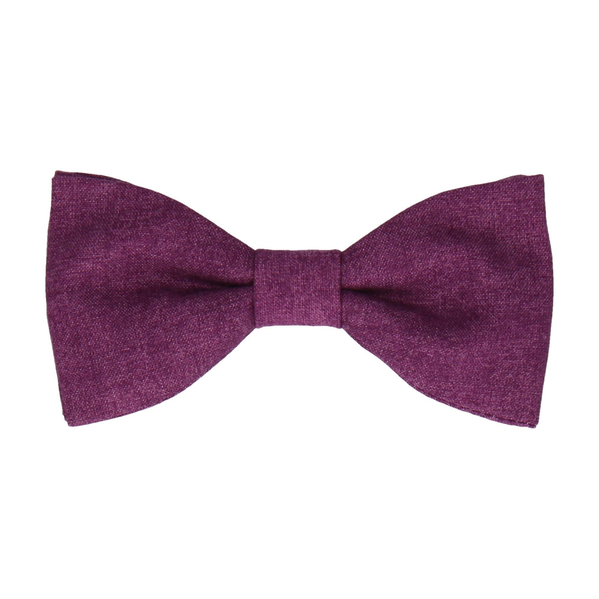 Cotton in Purple Marl Bow Tie