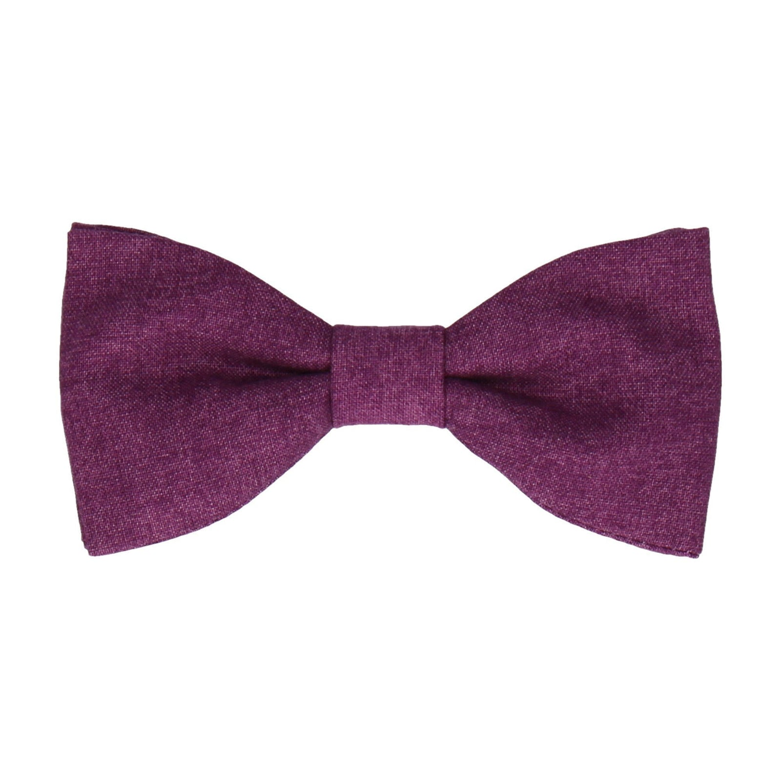Cotton Purple Marl Bow Tie