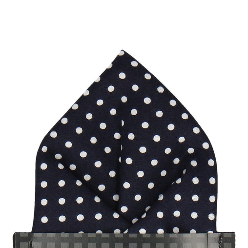 Chiswick in Navy Blue Pocket Square