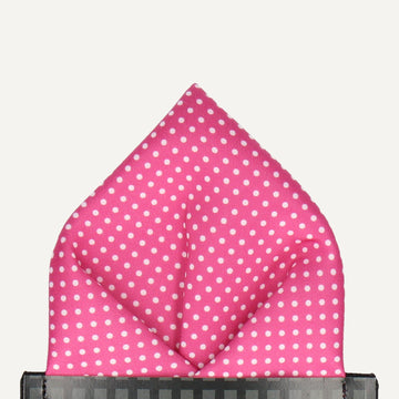 Pin Dots in Cerise Pocket Square (Outlet)