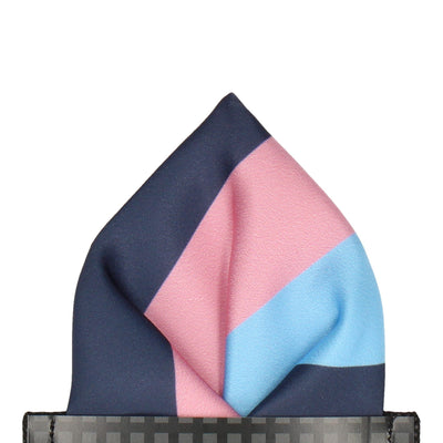 Durham in Blue & Pink Pocket Square