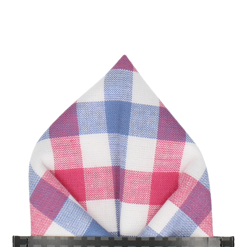 Crewe in Pink & Navy Pocket Square