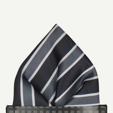 Doddlington in Black Pocket Square (Outlet)