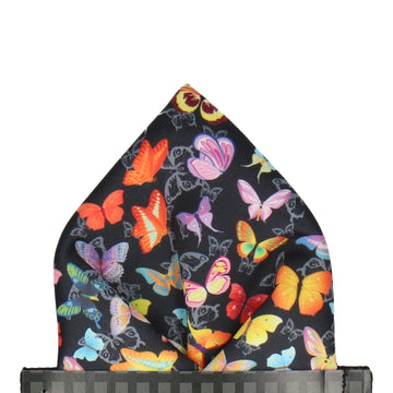 Bright Butterflies Pocket Square