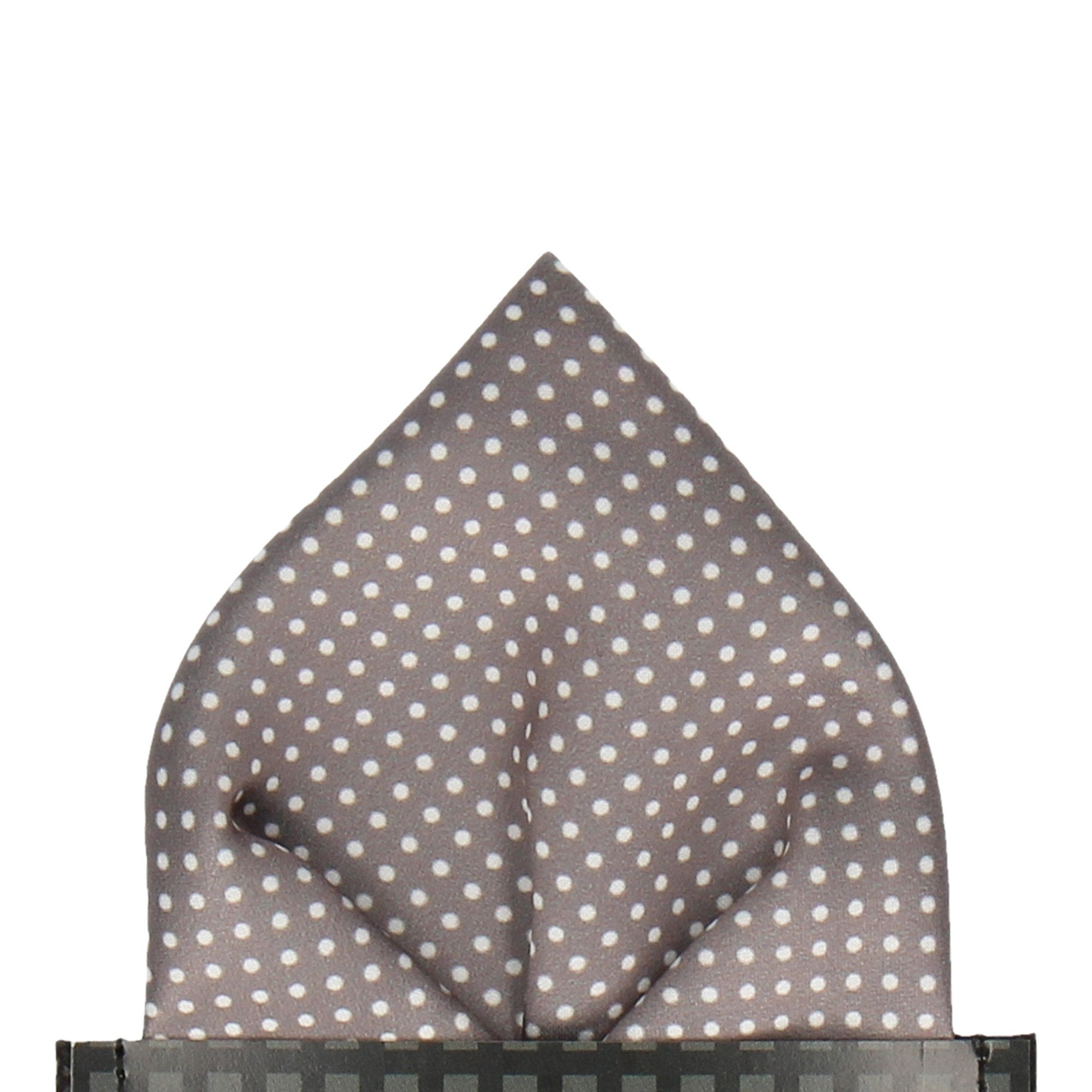 Pin Dots in Thunder Grey Pocket Square