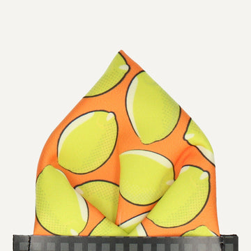 Citrus in Orange Pocket Square (Outlet)