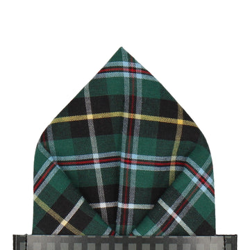 Glenfinnan Green Tartan Pocket Square
