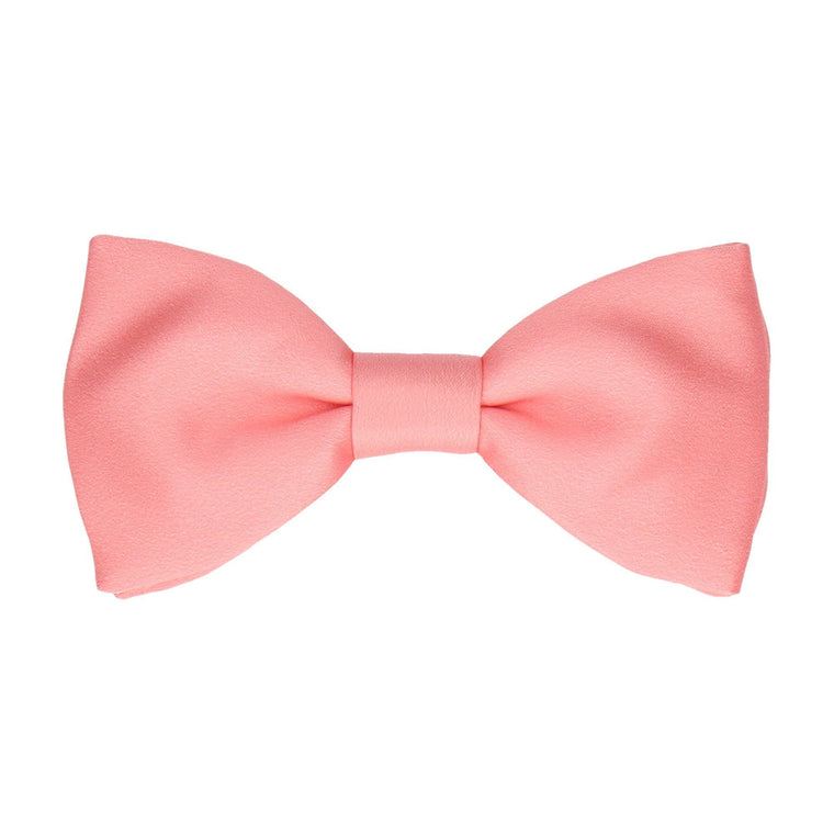 Plain Solid Soft Coral Bow Tie