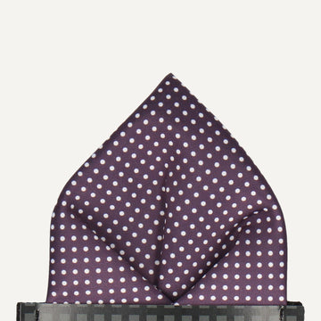 Pin Dots in Aubergine Pocket Square