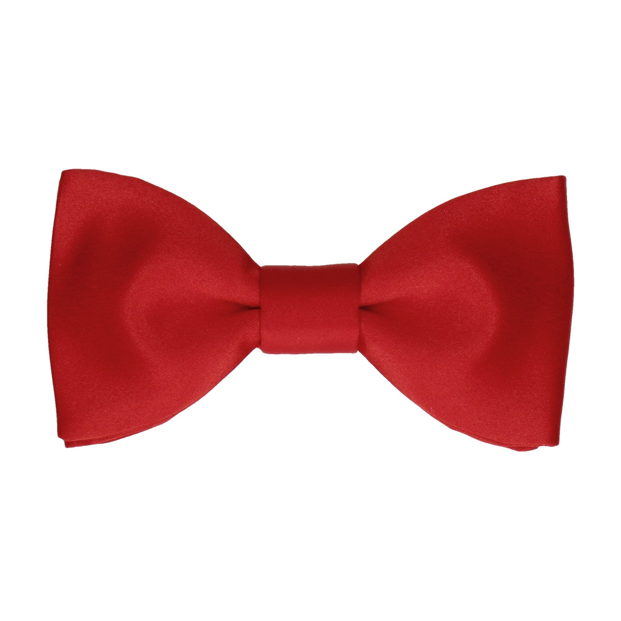Satin in Vermillion Red Bow Tie