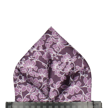 Irving in Aubergine Pocket Square (Outlet)