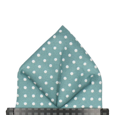 Chiswick in Sea Green Pocket Square