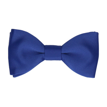 Royal Blue Plain Solid Satin Bow Tie