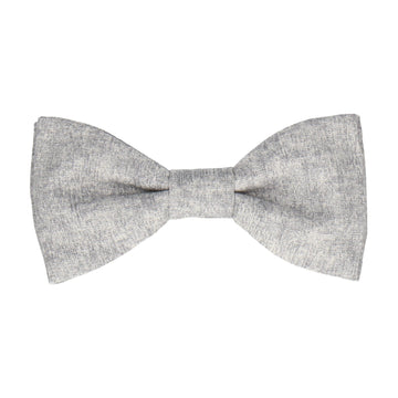 Cotton Grey Marl Bow Tie
