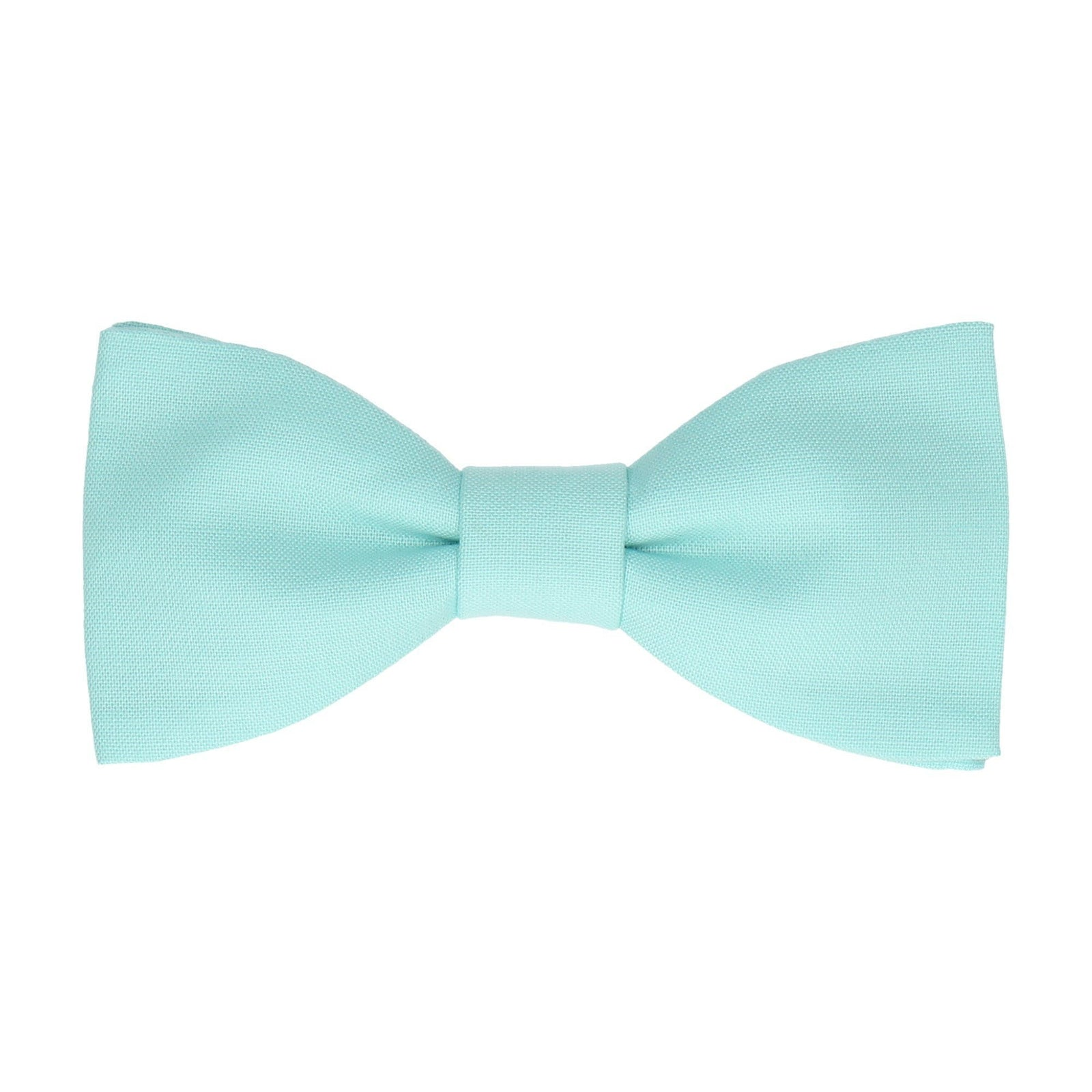 Cotton Aqua Blue Bow Tie