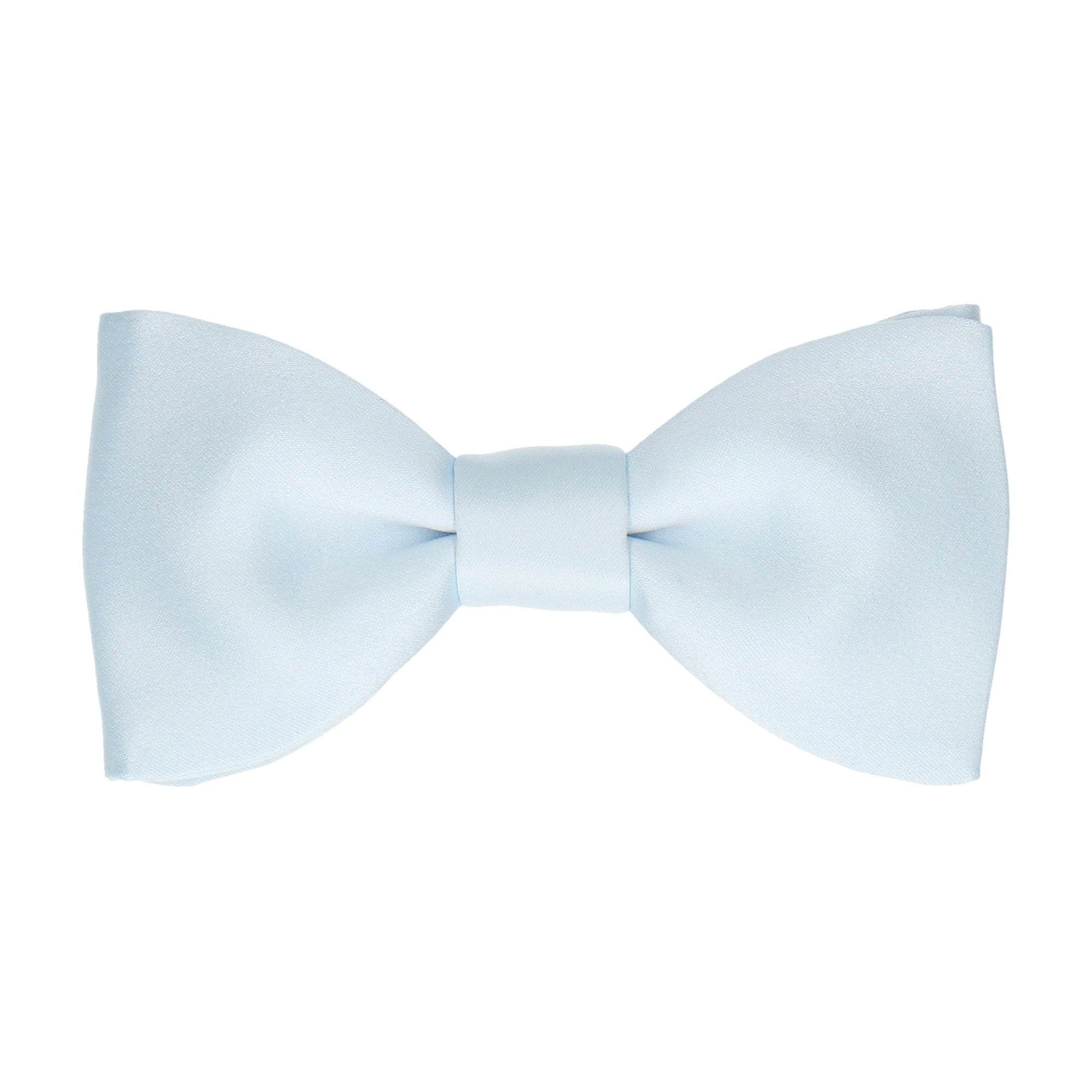 Satin Ice Blue Bow Tie