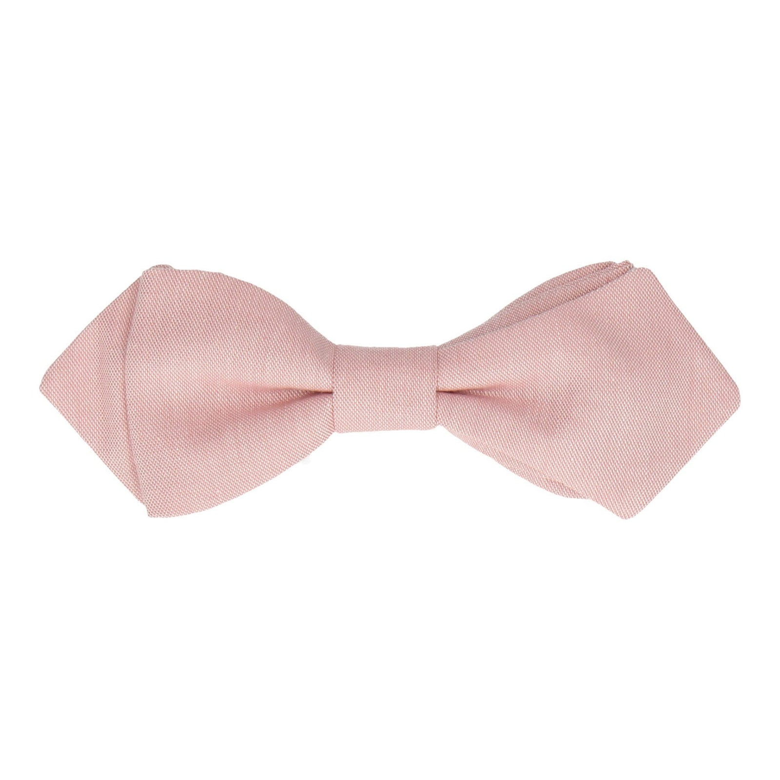 Cotton Pink Chambray Bow Tie