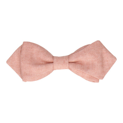 Cotton in Salmon Marl Bow Tie