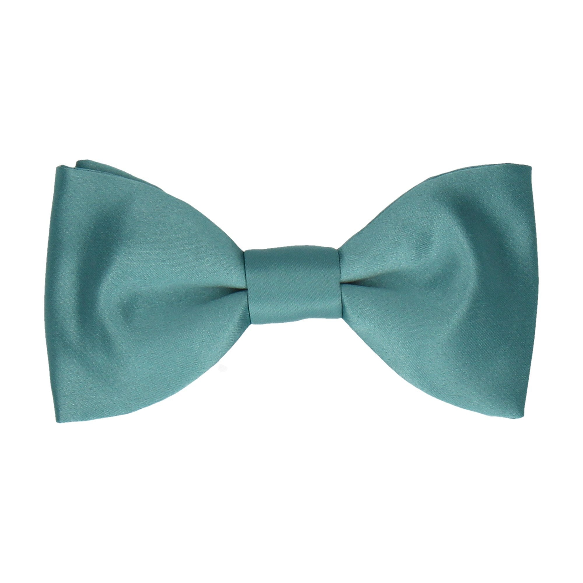 Satin Sea Green Bow Tie