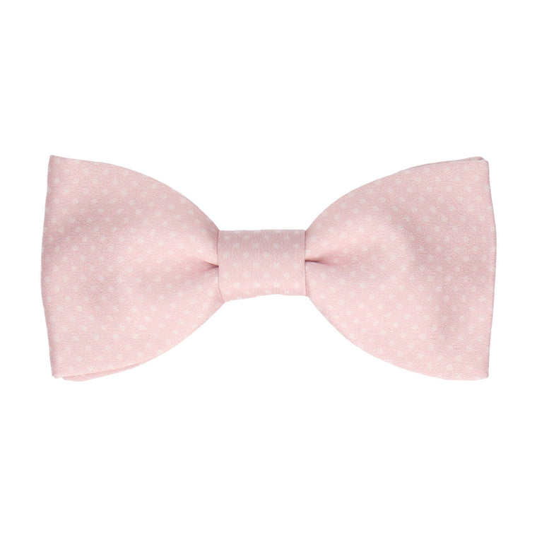 Dickinson Dots Soft Blush Pink Bow Tie