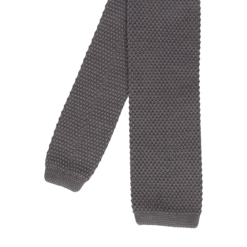 Knitted Tie in Thunder Grey