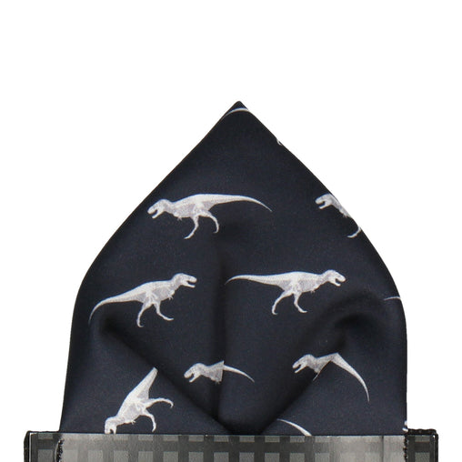 T Rex Silhouette Pocket Square