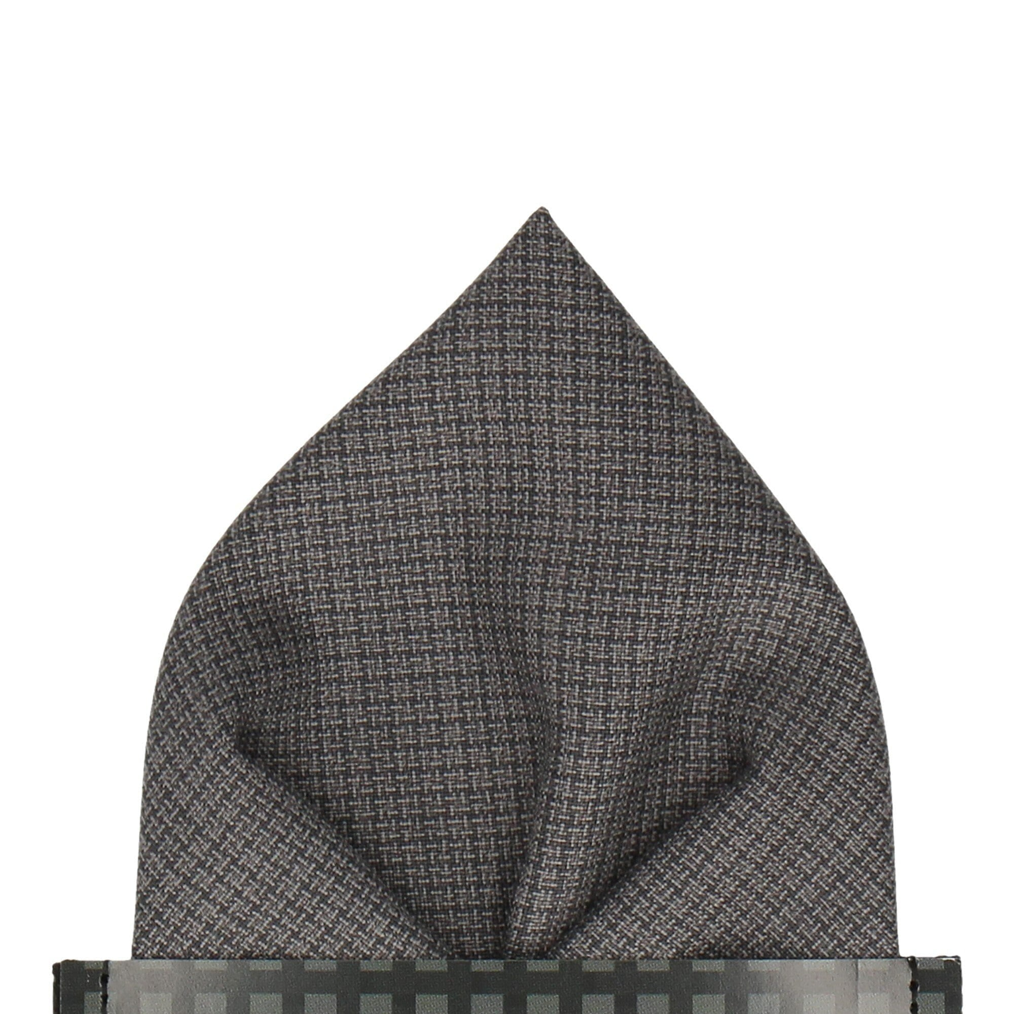 Cornelius in Grey Pocket Square