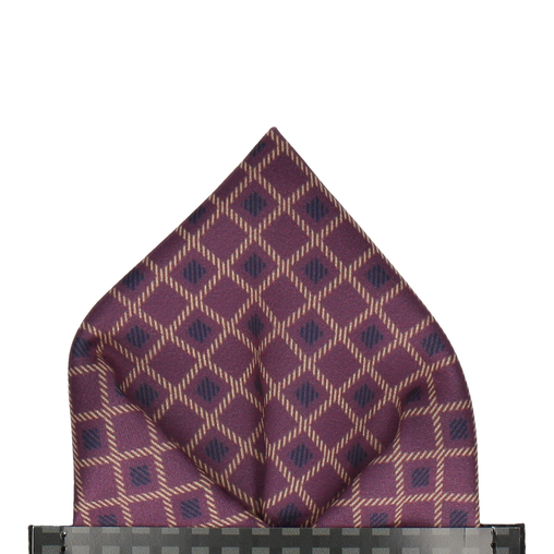 Milford in Purple Pocket Square