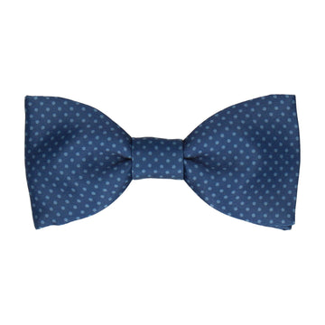 Navy Blue Tiny Dots Bow Tie