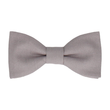 Cotton Grey Bow Tie