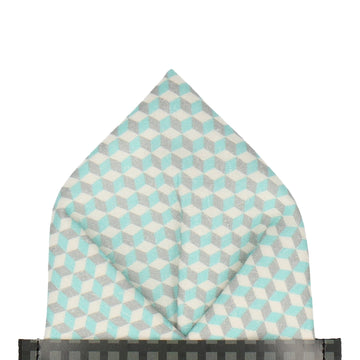 Chicago in Mint Pocket Square (Outlet)