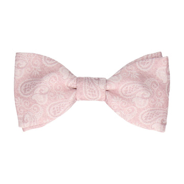 Blush Pink Vintage Paisley Bow Tie