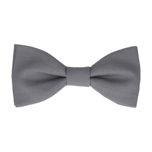 Cotton in Steel Grey Bow Tie