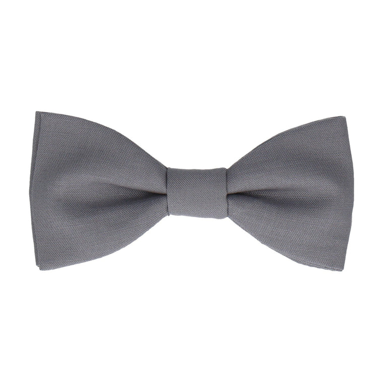 Cotton Steel Grey Bow Tie
