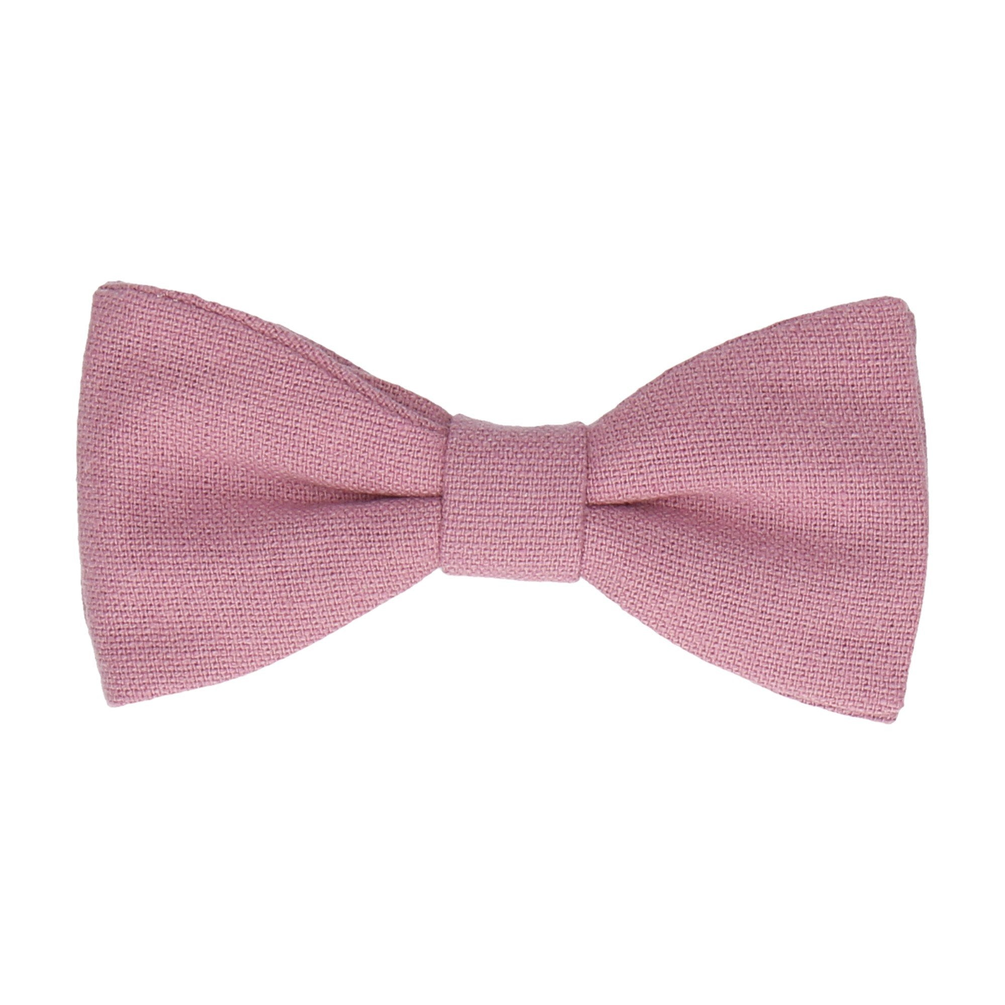 Linen Powder Pink Bow Tie