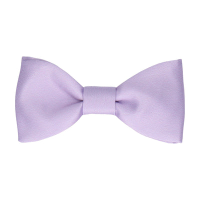 Plain Solid Lilac Purple Bow Tie