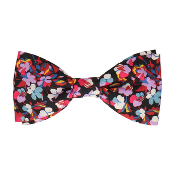 Pink Tropical Floral Liberty Cotton Bow Tie