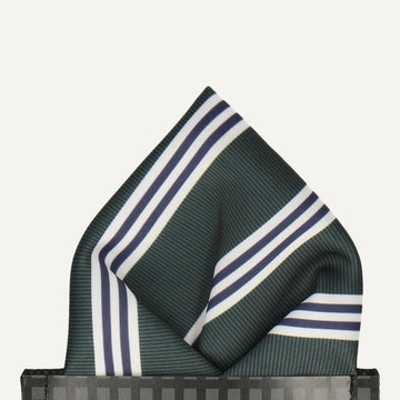 Brava in Green & White Pocket Square (Outlet)