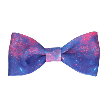 Space Galaxy Purple Nebula Bow Tie