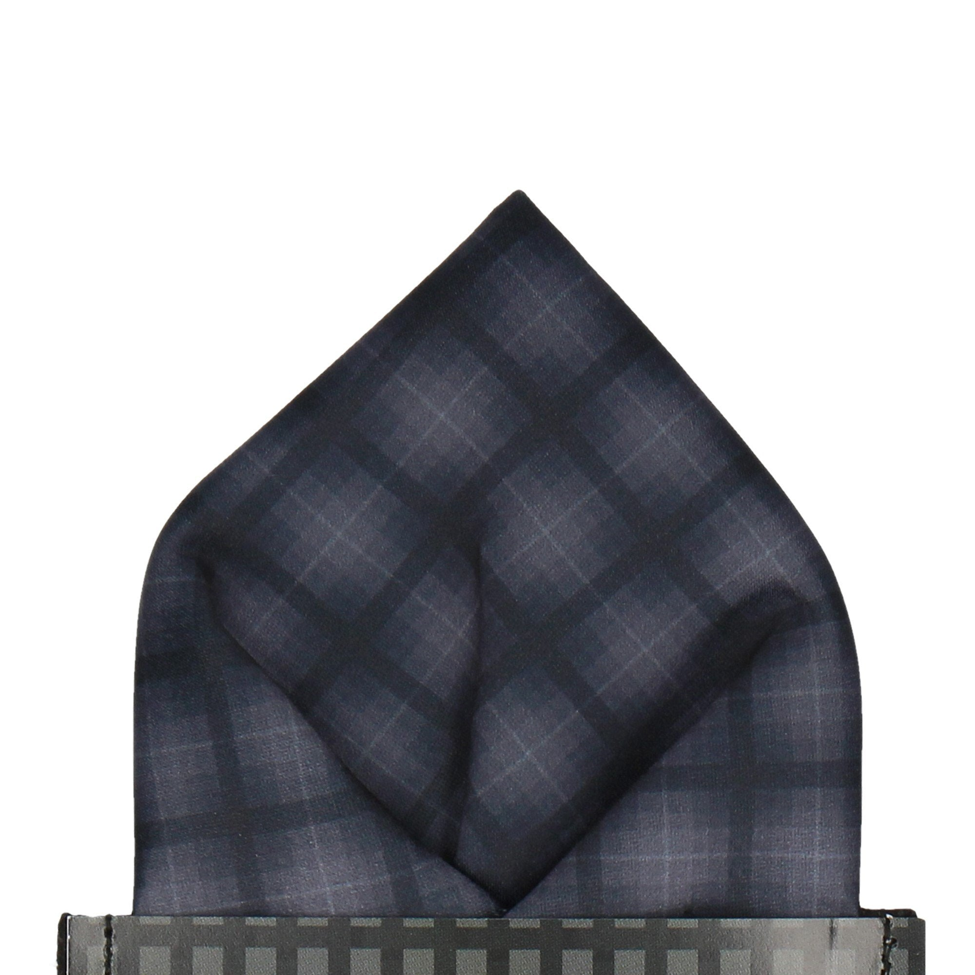Tartan in Stealth Pocket Square (Outlet)