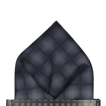 Stealth Tartan Pocket Square (Outlet)