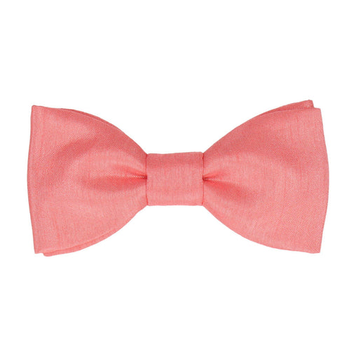 Faux Silk in Coral Bow Tie