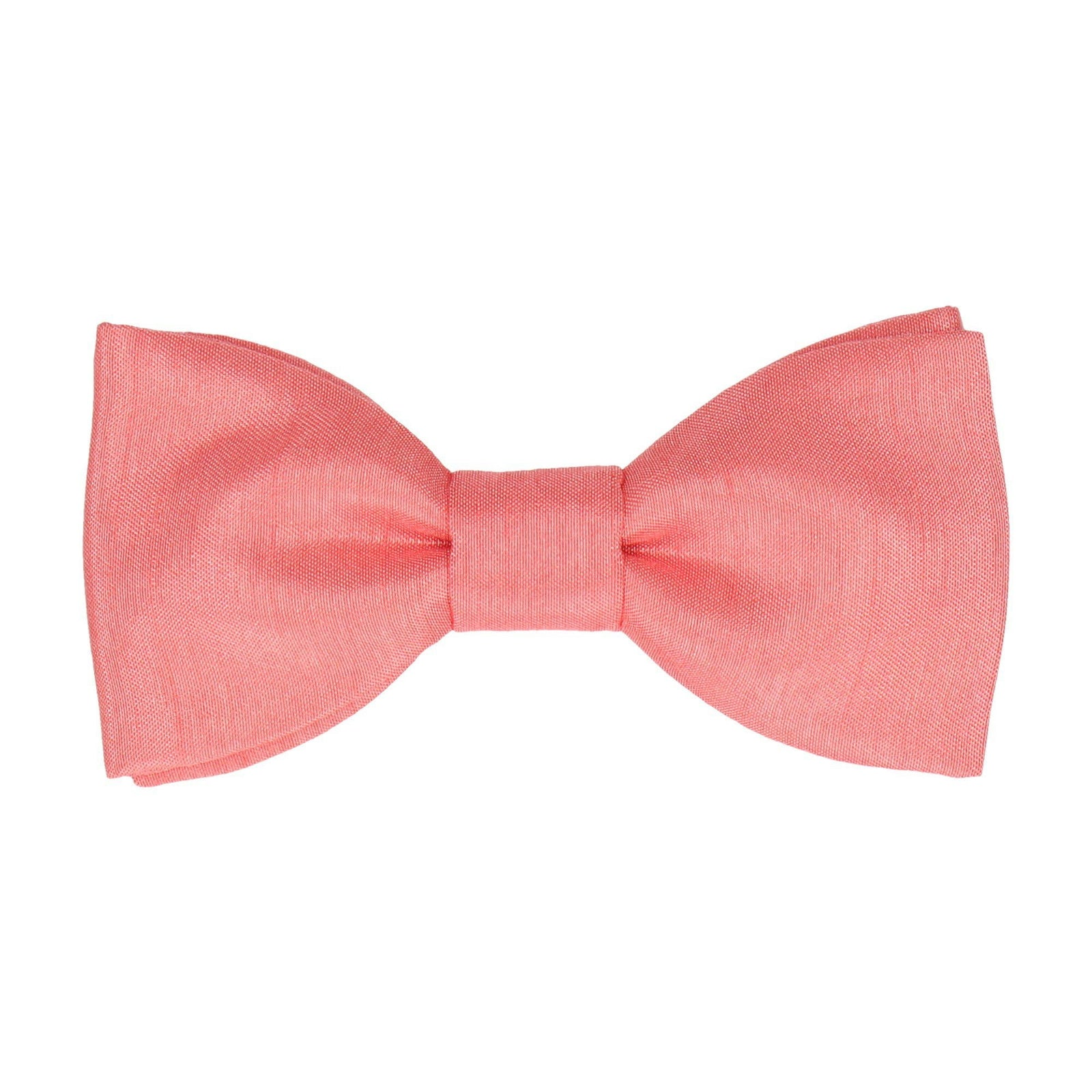 Faux Silk Coral Bow Tie