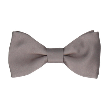 Plain Solid Thunder Grey Bow Tie
