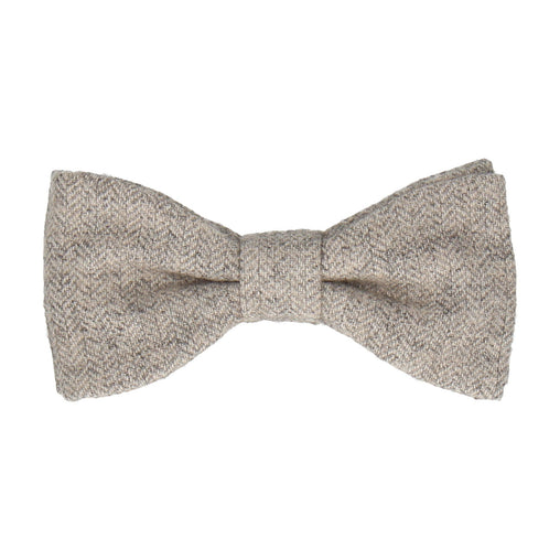 Herringbone in Light Grey Bow Tie