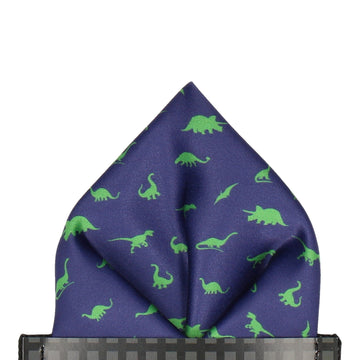 Dinosaurs in Navy Blue Pocket Square